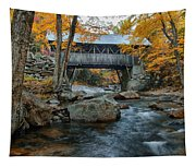 Flume Gorge Covered Bridge Tapestry