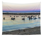 Geese At Dusk Tapestry