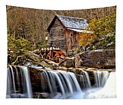 Glade Creek Grist Mill Tapestry