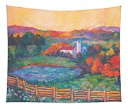 Golden Farm Scene Tapestry