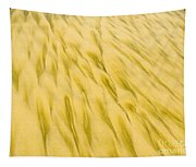 Golden Sand Pattern Created By Surf On Beach Tapestry