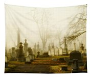 Gothic Autumn Morning Tapestry