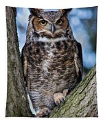Great Horned Owl Tapestry