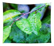 Green Leaf As A Painting Tapestry