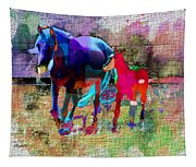 Horses Of Different Colors Tapestry