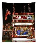 Hot Dog On A Stick Tapestry