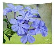 I Love Blue Flowers Tapestry