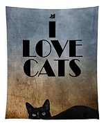 I Love Cats Tapestry