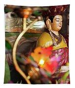 Interiors Of Vihn Trang Pagoda, My Tho Tapestry