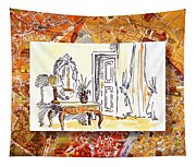 Italy Sketches Venice Hotel Tapestry