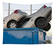 Junk Cars In Dumpster Cash For Clunkers Tapestry