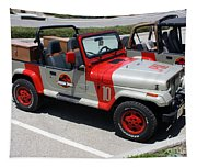 Jurassic Park Jeeps Tapestry