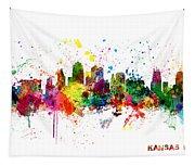 Kansas City Skyline Tapestry