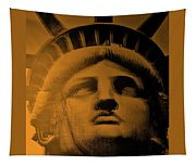 Lady Liberty In Orange Tapestry