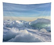 Lake Erie Ice Sunrise Tapestry