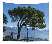 Lakeside With Trees Tapestry