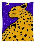 Leopard At Midnight Tapestry