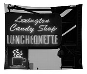 Lexington Candy Shop In Black And White Tapestry