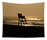 Lifeguard Chair In The Morning Tapestry