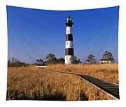 Lighthouse In A Field, Bodie Island Tapestry