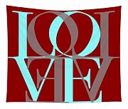 Love Typography Tapestry