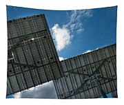 Low Angle View Of Solar Panels Tapestry