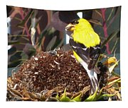 Male American Goldfinch Tapestry