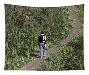 Man With A Canon Camera And Lens In Greenery Tapestry
