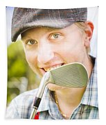 Man With Golf Club Tapestry