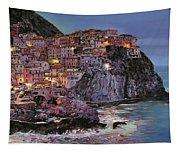 Manarola At Dusk Tapestry