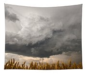 Marshmallow - Bubbling Storm Cloud Over Wheat In Kansas Tapestry