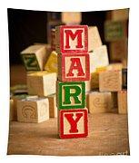 Mary - Alphabet Blocks Tapestry