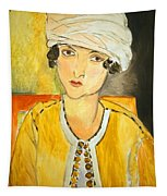 Matisse's Lorette With Turban And Yellow Jacket Tapestry
