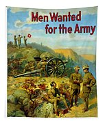 Men Wanted For The Army Tapestry