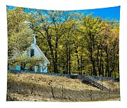 Mission Point Light House Michigan Tapestry