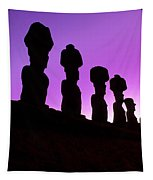 Moais Easter Island Chile Tapestry