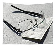 Money And Eyeglasses Tapestry