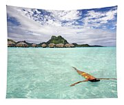 Moorea Woman Floating Tapestry
