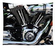 Motorcycle Engine Tapestry