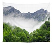 Mountain With Clouds Tapestry