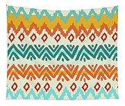 Navajo Mission Round Tapestry