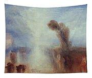 Neapolitan Fisher Girls Surprised Bathing By Moonlight Tapestry