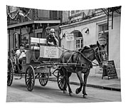 New Orleans - Carriage Ride Bw Tapestry