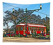 New Orleans Streetcar Painted Tapestry