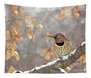 Northern Flicker Woodpecker Tapestry