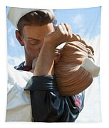 Nurse And Sailor Kissing Statue Unconditional Surrender Closeup  Tapestry