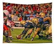 On The Goal Line - Notre Dame Vs Utah Tapestry