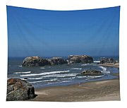 Oregon Beach And Rocks Tapestry