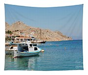 Pedi Harbour Symi Tapestry