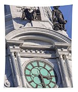 Philadelphia City Hall Clock Tapestry
